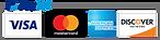 Payment methods, Visa, Mastercard, American Express, Discove