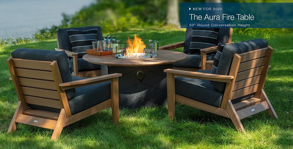 Aura fire table patio Seaside