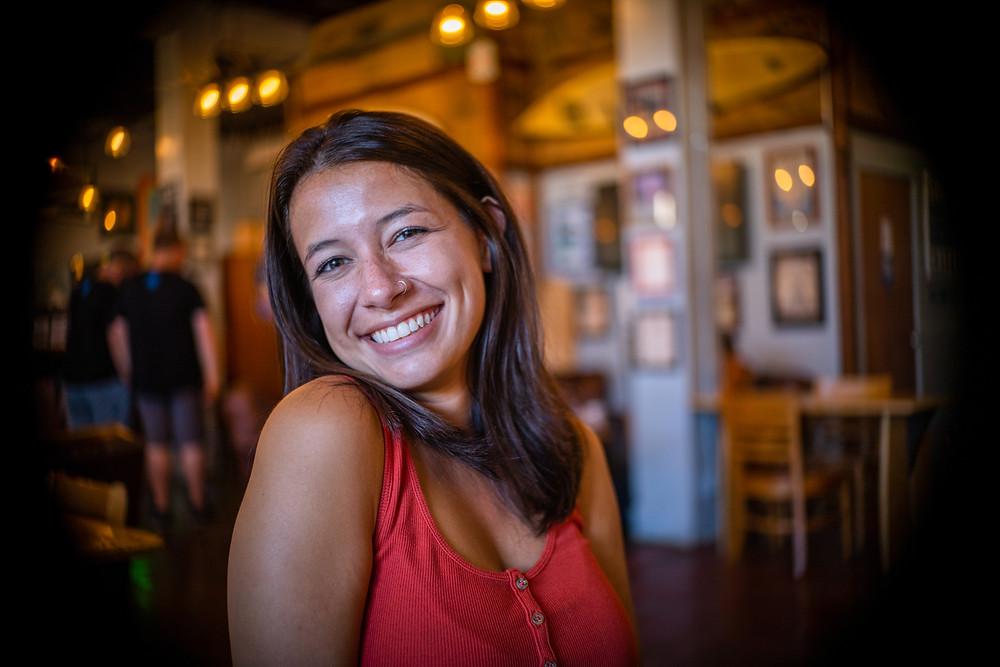 Makayla at Surfers Coffee