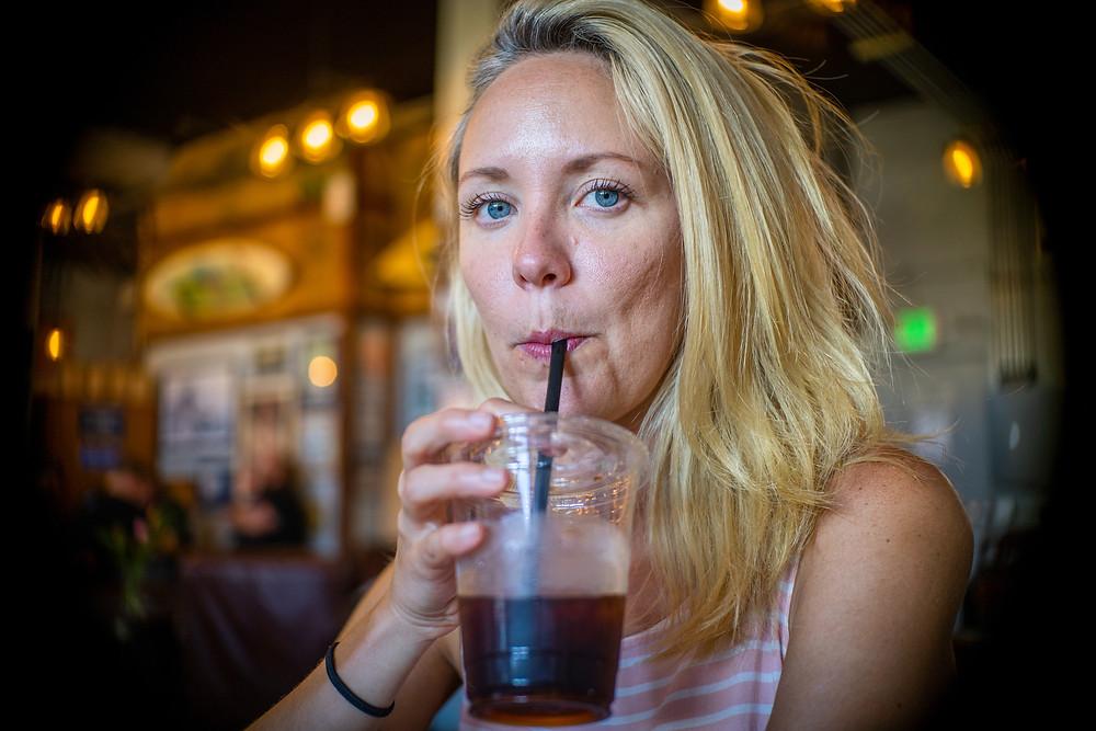 Brandi at Surfers Coffee