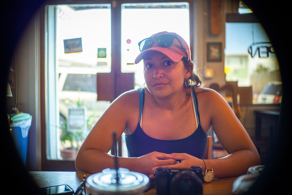 Chrissy at Surfers Coffee