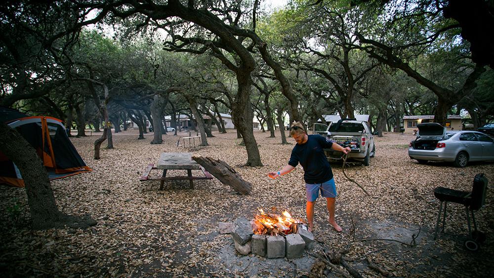 Camp site close to Bluff.