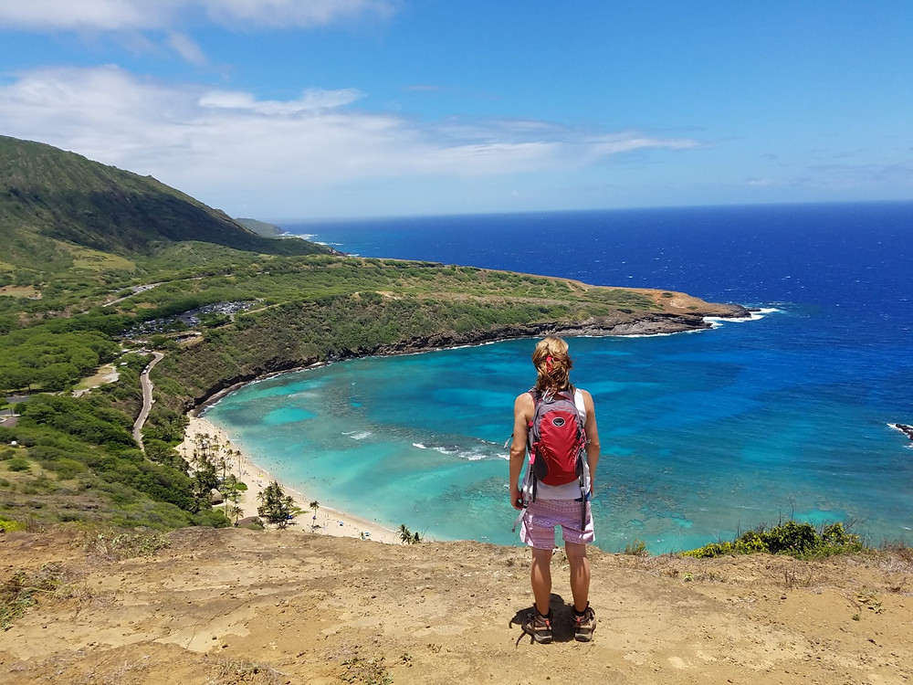 Jacob Bondesen on Hanauma Bay Ridge Hike