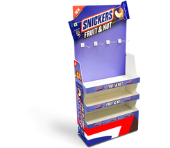 Heavy Duty Floor Standing Product Display Unit With Peg Hooks