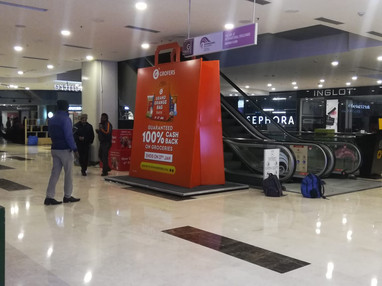 12 feet Grand Orange Bag installed at DLF Saket, Delhi