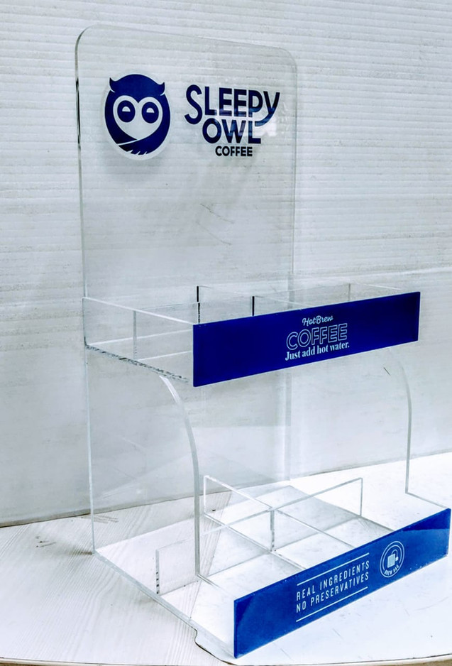 Acrylic Coffee Dispenser for Sleepy Owl Coffee