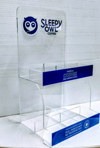 Acrylic Coffee Dispenser for Sleepy Owl Coffee