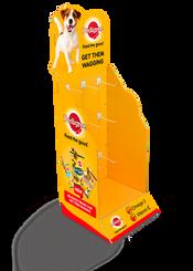 Floor Standing Peg Hook Display