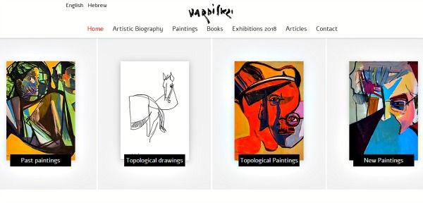 אתר תדמיתי באנגלית לצייר