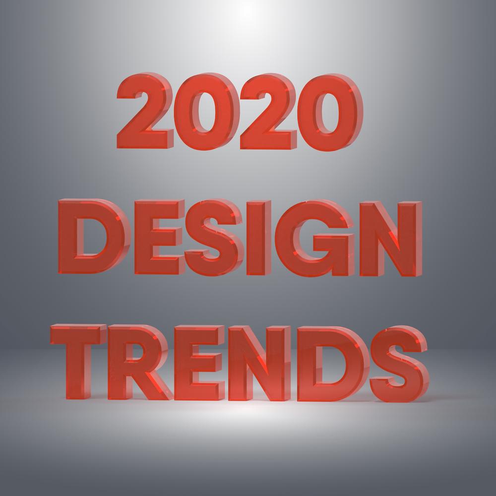 3D Render of 2020 Design Trend Title