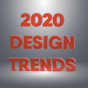 3D Render of 2020 Design Trend Title