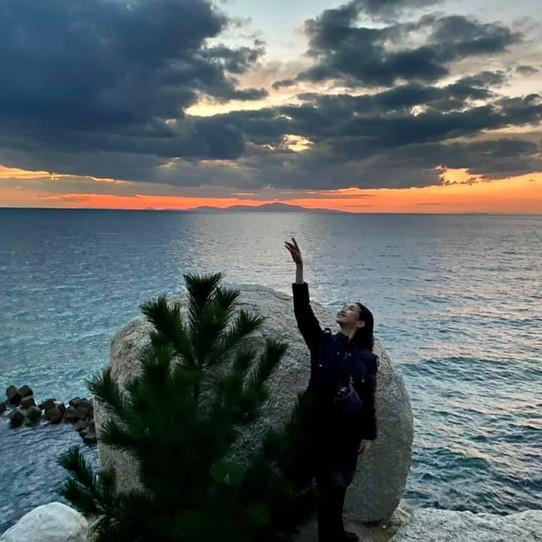 白鳥の湖ハイライトの公演後訪れた岬