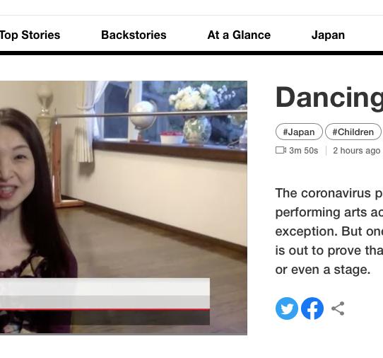 NHK World に出演させて頂きました(映像は5月30日まで)
