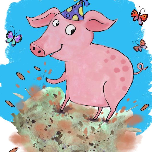 Pig Brought the Fun (Boardbook WIP personal)