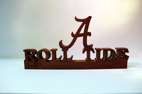 Alabama Crimson Tide Roll Tide with Logo Display