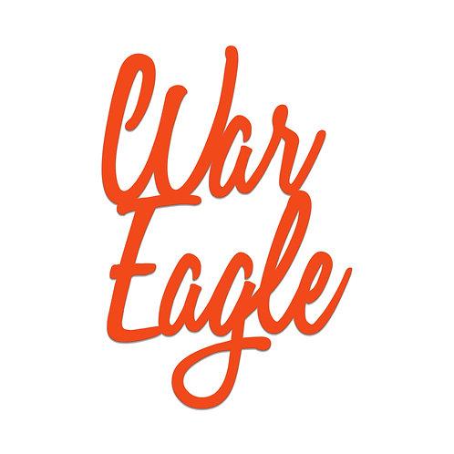 Auburn Tigers War Eagle Script Wall Hanger