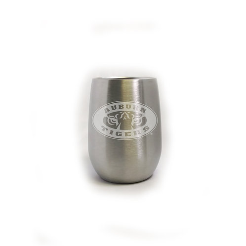 Auburn Tiger Eyes 9 oz. Stainless Steel Cup