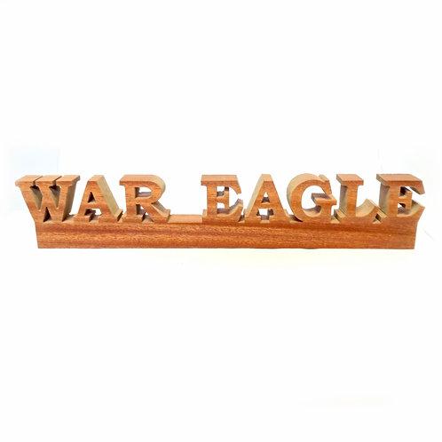 Auburn Tigers War Eagle Wood Display