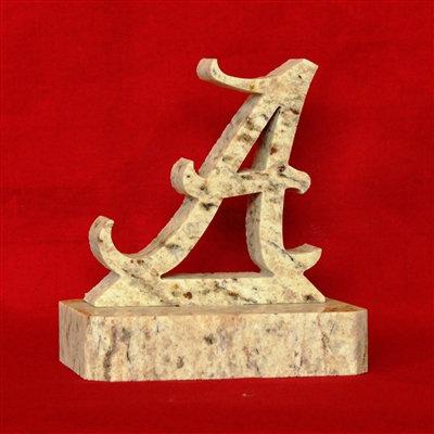 Alabama Crimson Tide Granite Display with Plain Base