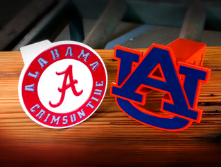 New Auburn & Alabama Trailer Hitch Covers
