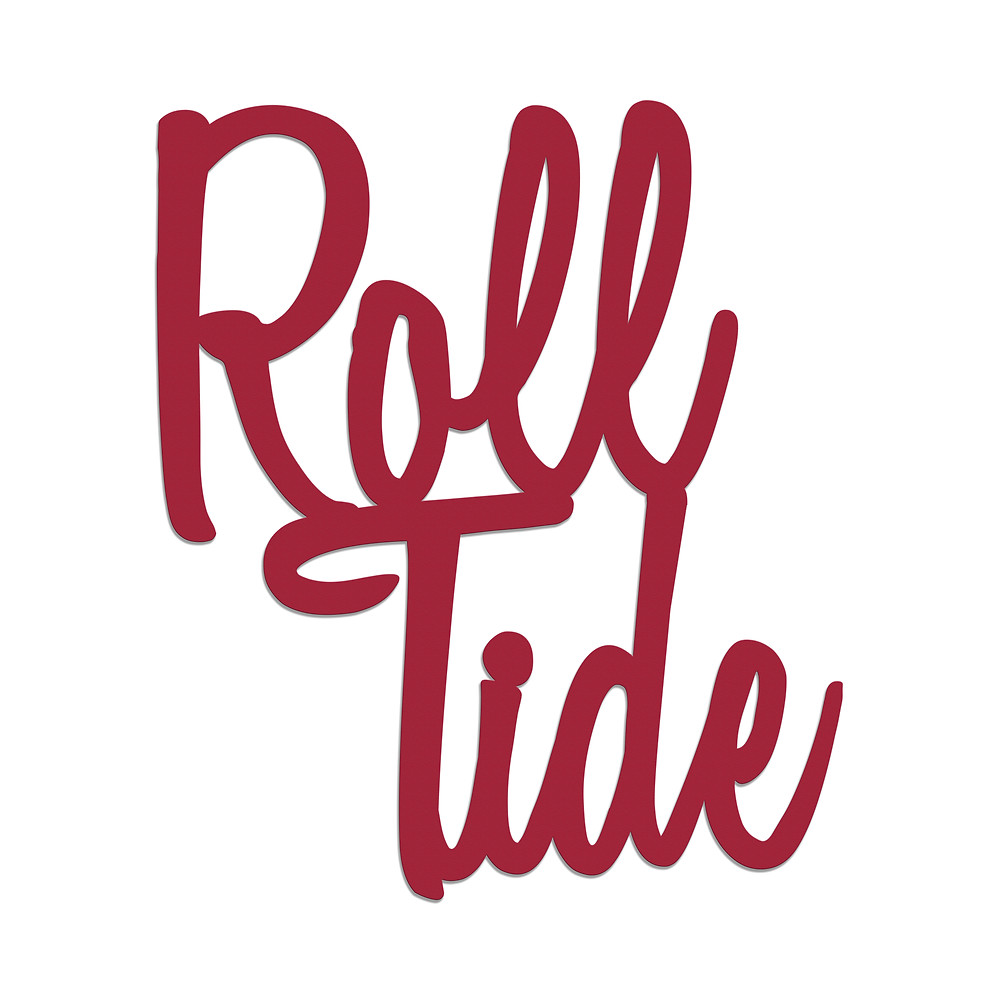 Alabama Crimson Tide ROLL TIDE wall hanger