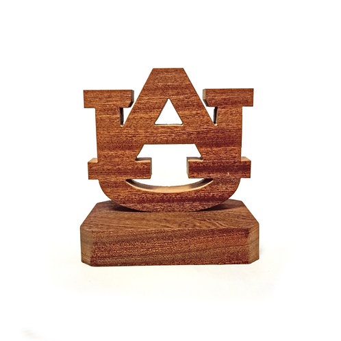 Auburn Tigers Wood Display with Plain Base