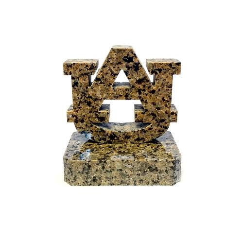 Auburn Tigers Granite Display with Plain Base