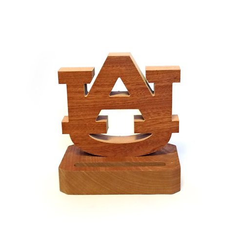 Auburn Tigers Wood Business Card Holder