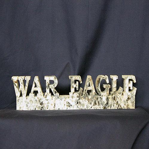 Auburn Tigers War Eagle Granite Display