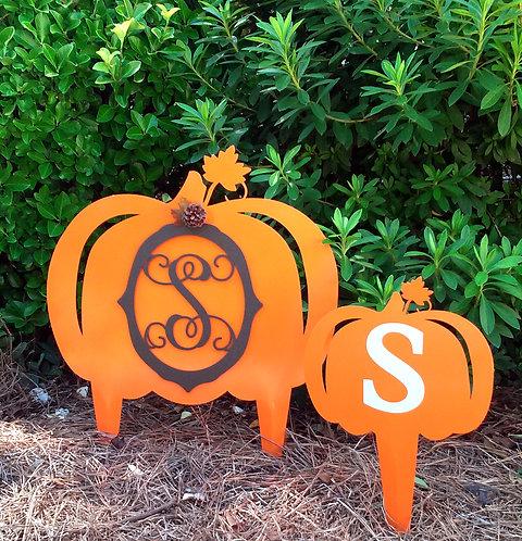Pumpkin Yard Art