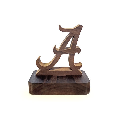 Alabama Crimson Tide Wood Display with Plain Base