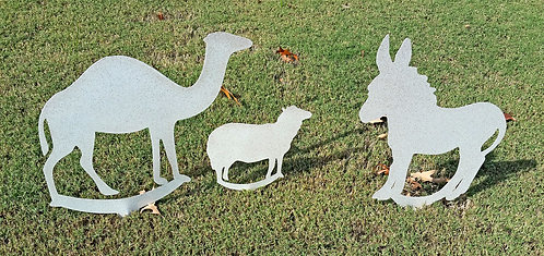 Manger Animals Christmas Yard Art