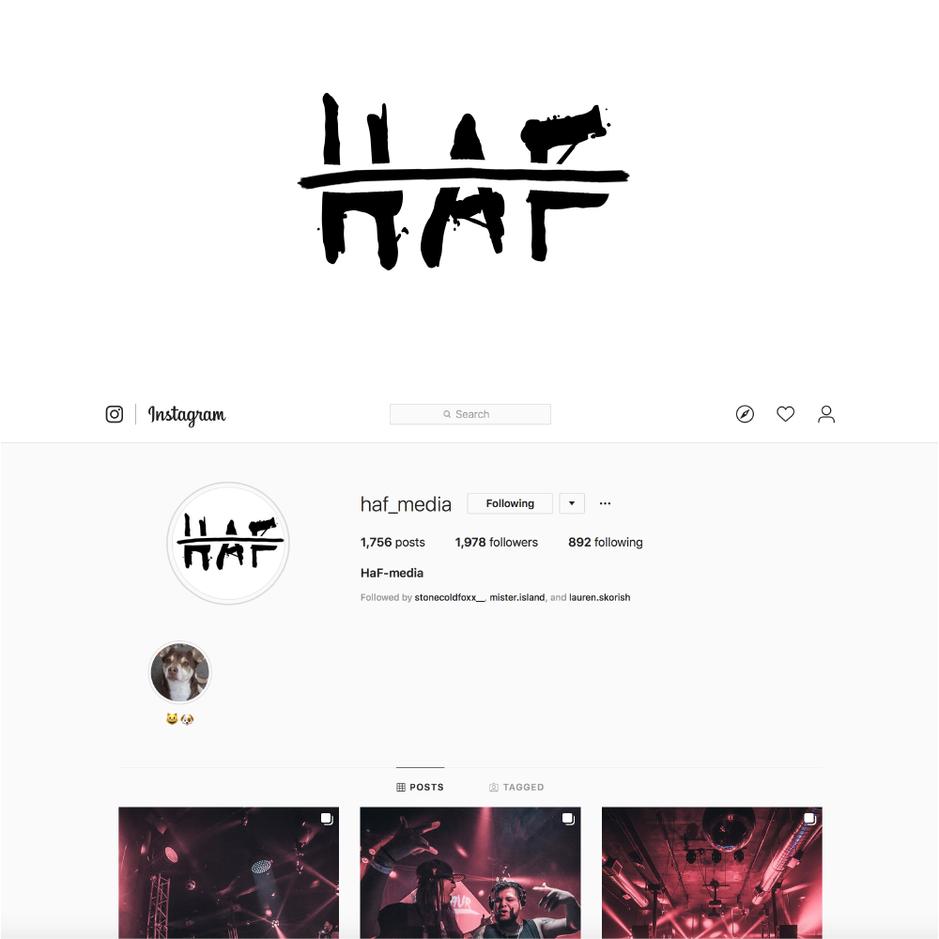 HAF media logo design