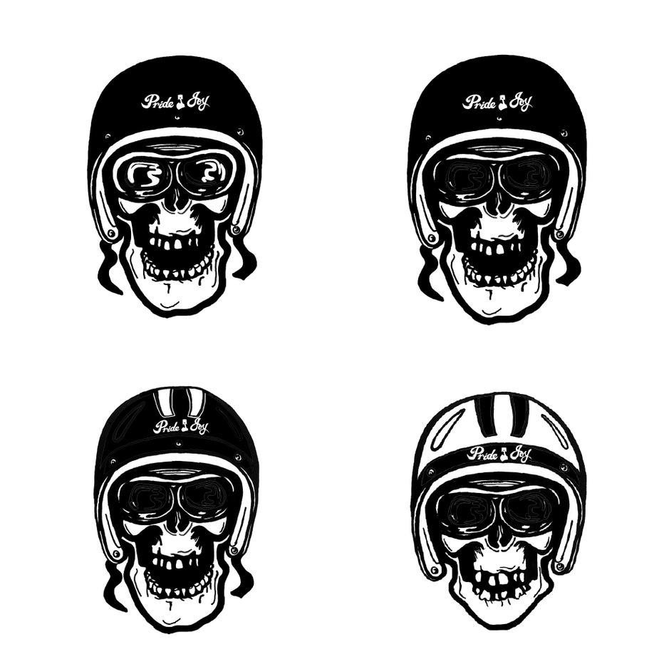 pride & joy skull tee design