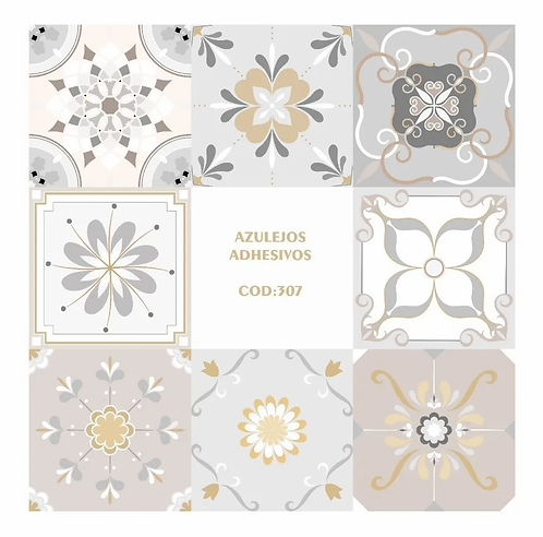 Copia de Vinilos Para Azulejos, Autoadhesivos De Mosaicos x9u codigo 307