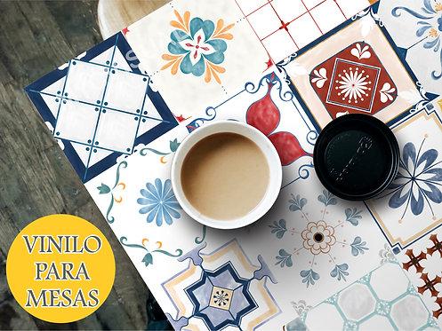 Vinilo Decorativo Para Mesas Diseño De Mosaicos