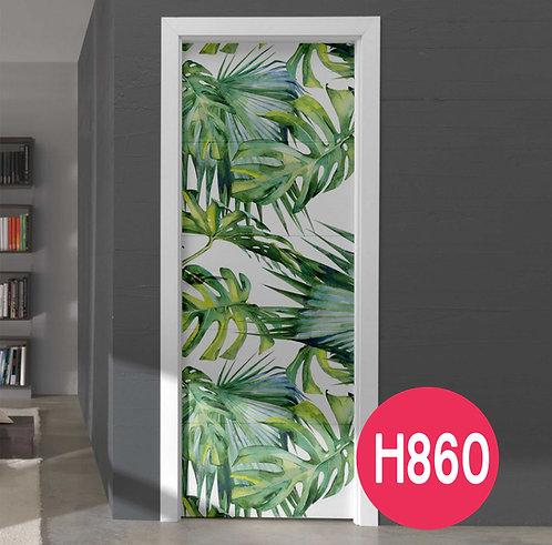 Copia de Vinilos Decorativos Para Puertas Tropical