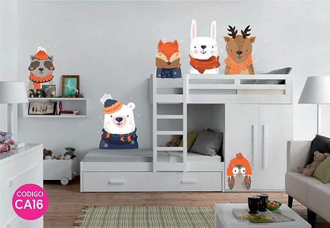 Copia de Vinilos Decorativos Infantiles Animalitos del Bosque