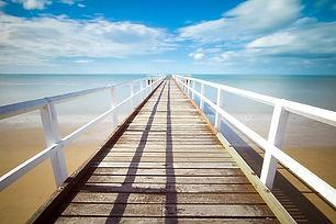 pier walkway over water