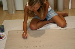 Firmando obras