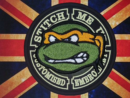 EMBROIDERED PATCH OF MICHELANGELO TMNT