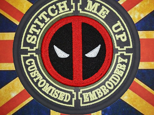 """EMBROIDERED PATCH """"DEADPOOL"""""""