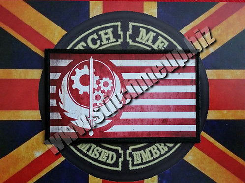 """VINYL PATCH OF  """"BROTHERHOOD"""" FLAG FROM FALLOUT"""