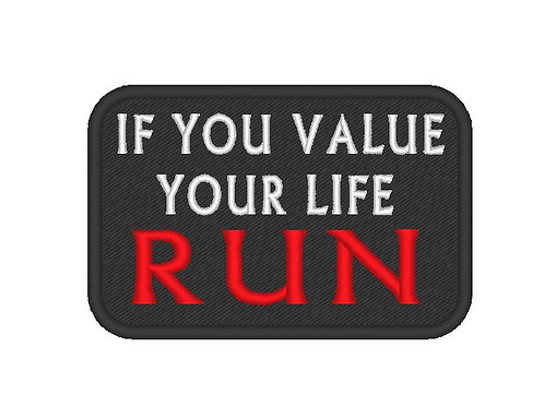 """MORAL SLOGAN  PATCH """"IF YOU VALUE"""""""