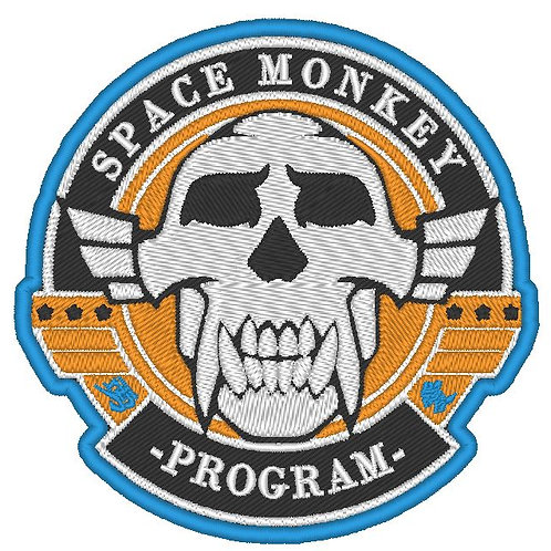 EMBROIDERED SPACE MONKEY PROGRAM PATCH