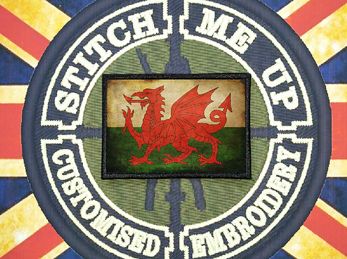THERMAL IMAGE VINYL ARTISTIC STYLE  WALES FLAG