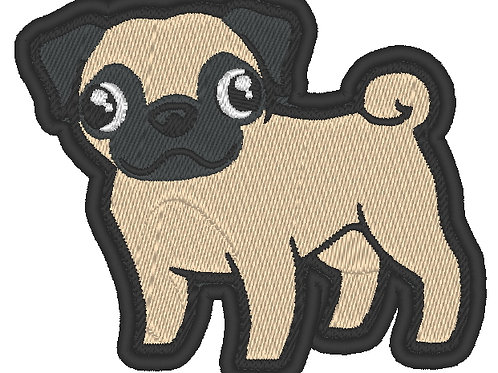 EMBROIDERED MORALE COSPLAY PATCH -  PUG DOG