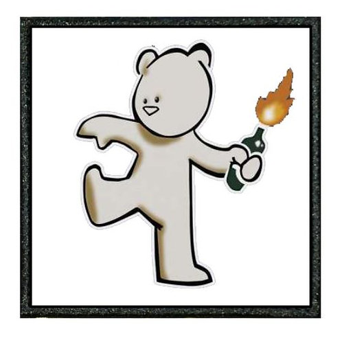 THERMAL VINYL -BANKSY - MOLOTOV TEDDY