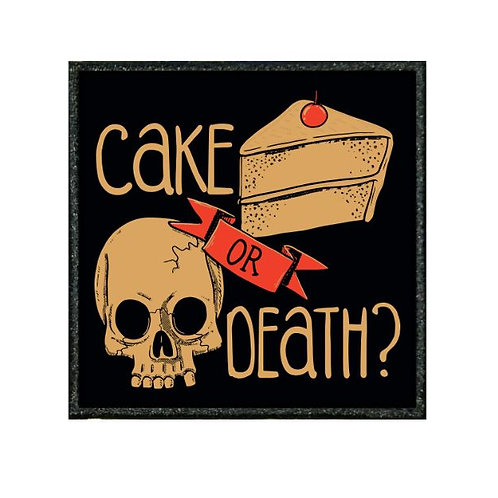 THERMAL VINYL PATCH - CAKE OR DEATH