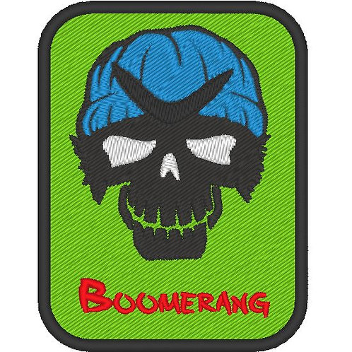 EMBROIDERED TV / MOVIE PATCH - SUICIDE SQUAD LOGO BOOMERANG